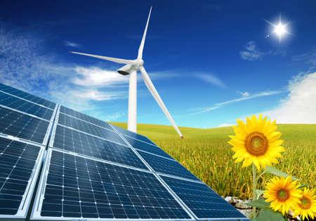 Ökologischer Energien Standard-Bild