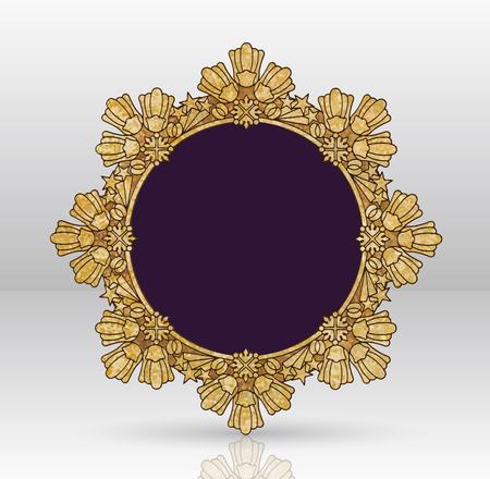 golden frames: Vector Vintage Gold Wealth Illustration