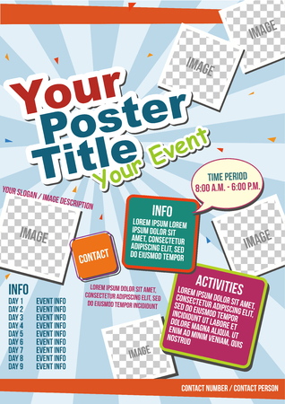 lively: Vector Lively Colorful Poster Template Illustration