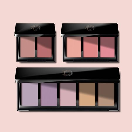 Vector Eyeshadow / Blush / Makeup Palette in Black