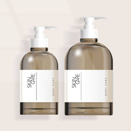 Vector Tinted Boston Pump Bottle Packaging  for Haircare / Skincare / Healthcare / Skincare  Products