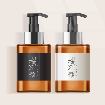 Vector Tinted Bottle for Skincare / Healthcare / Haircare Products Illustration
