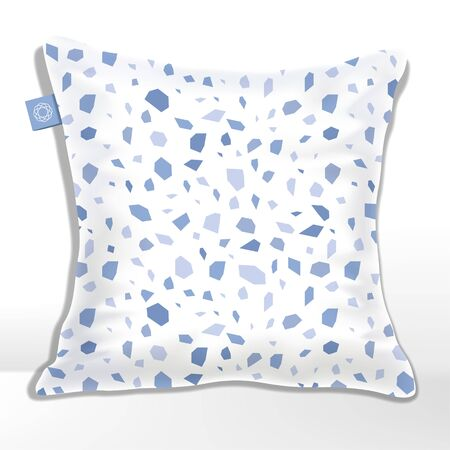 Vector Cushion or Pillow with Terrazzo, Rock, Granite or Stone Pattern Printed