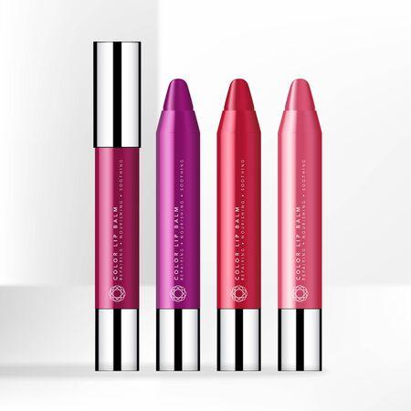 Vector Trendy Color Lip Balm Pen with Gloss Silver Cap