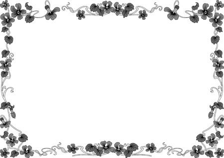 din: historical frame in gray with floral ornaments in DIN format, free scalable  image