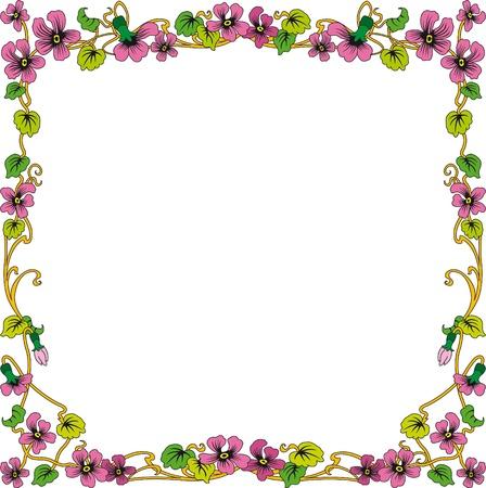 Cornice storica a colori con ornamenti floreali in formato quadrato, gratis di immagini scalabile Archivio Fotografico - 17225448
