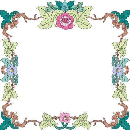 Cornice storica in colori pastello con ornamenti floreali in formato quadrato, gratis di immagini scalabile Archivio Fotografico - 17225326