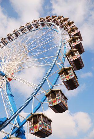 Ferris wheel at the Octoberfest in Munich photo
