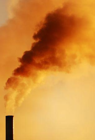 Dark smoke from a smokestack. Stock Photo - 2958626