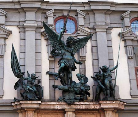 Angel sculpture seen in Ausgburg (Germany) Stock Photo - 2981871