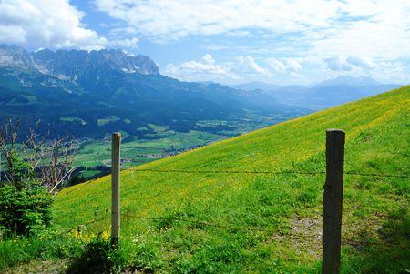 Mountain landscape in the Wilder Kaiser region of Austria. photo
