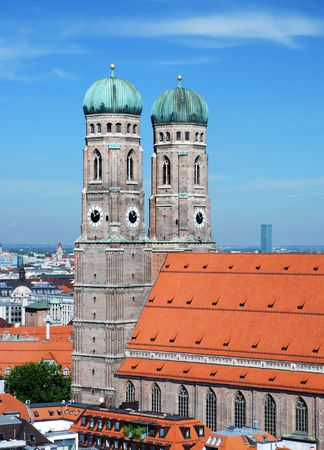 frauenkirche: The Church of Our Lady (Frauenkirche) in Munich (Germany, Bavaria). Stock Photo