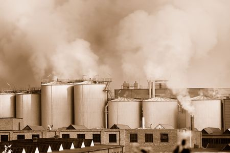 Air pollution by a chemical factory photo