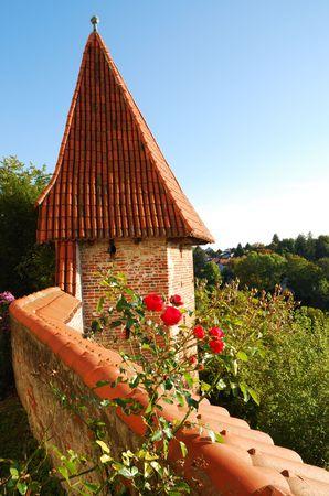 landshut: The Trausnitz castle in Landshut (Germany). Stock Photo