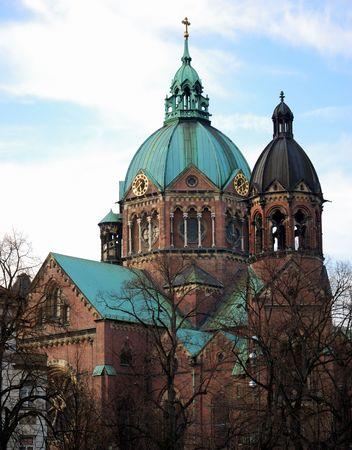 ルーク: ミュンヘンの聖ルカ教会 写真素材