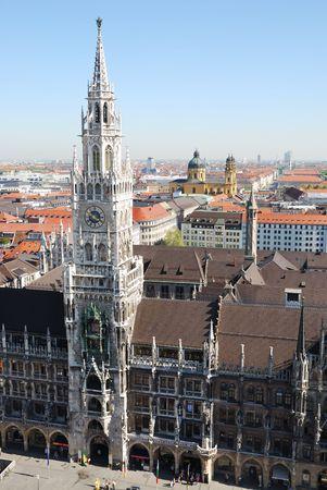 City house of Munich at the Marienplatz photo