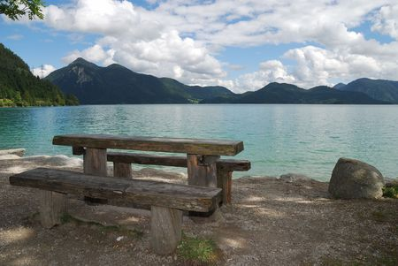 Lake Walchensee in the bavarian alps. photo