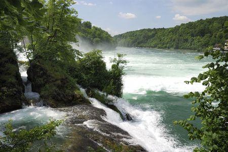 Rhine Falls (Rheinfall) at Schaffhausen in Switzerland.                          photo