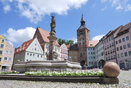 Place in the middle of Landsberg (Germany, Bavaria). photo