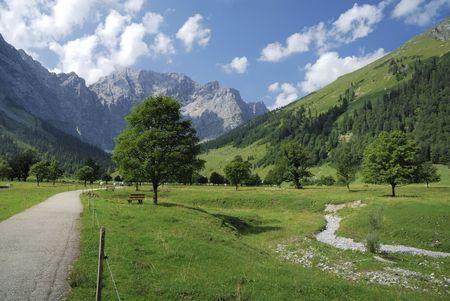 Ahornboden (Maple plain) valley in the Karwendel mountains in Tirol (Austria)                                  photo