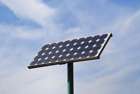 Electricity from a solar panel                             Stock Photo - 5727715