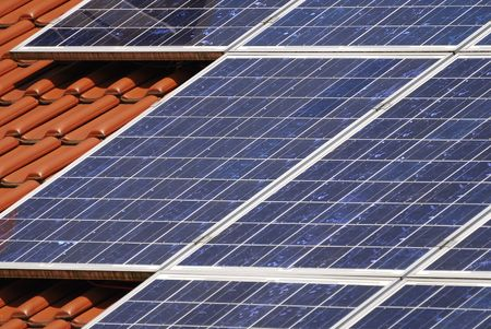 House roor with solar panels. Stock Photo - 5815326