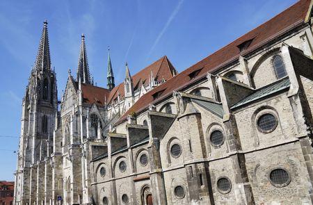 regensburg: Cathedral of Regensburg (Germany, Bavaria)                               Stock Photo