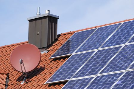 House roor with solar panels. Stock Photo - 5864428