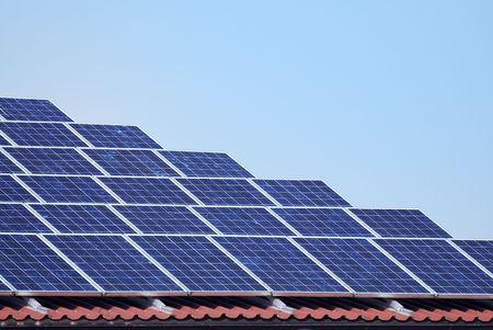 Regeneratvie energy with solar panels. Stock Photo - 5909351