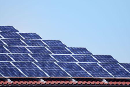 Regeneratvie energy with solar panels. Stock Photo - 5909351