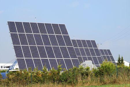 Alternative energy with solar panels. Stock Photo - 6030063