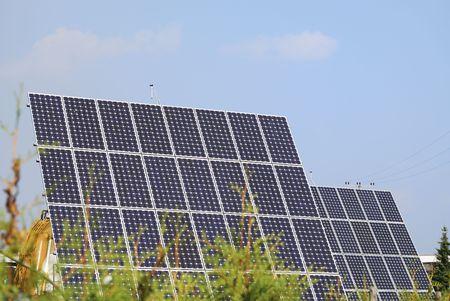 Alternative energy with solar panels.       Stock Photo - 6078403