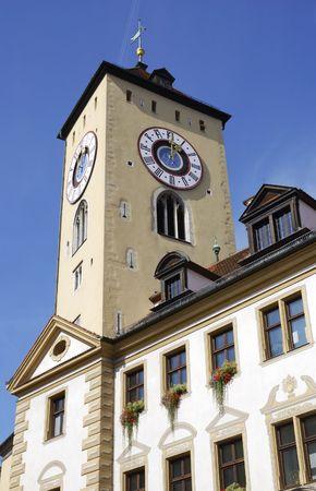 regensburg: Tower of the city house in Regensburg.