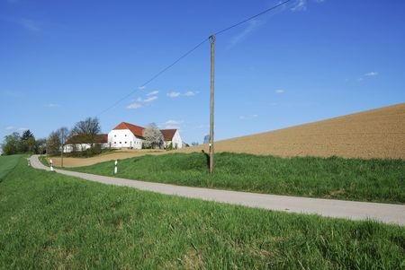 Lonely  farm house in Bavaria (Germany) photo
