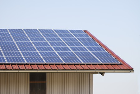 Roof covered with solar panels. Stock Photo - 7001394