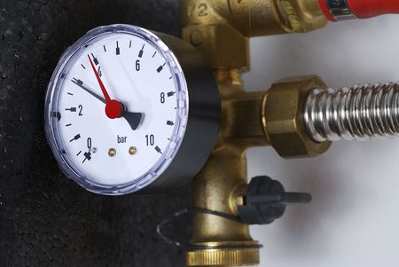 Manometer of a heating system Stock Photo - 7076311
