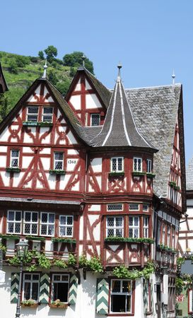 half timbered house: Half-timbered house in Bacharach (Germany)