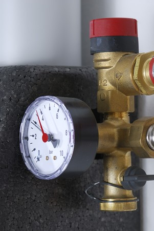Manometer of a heating system photo