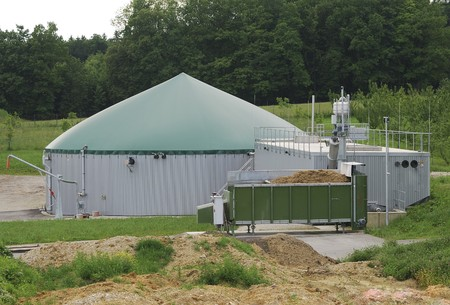 Plant for ecological biogas production