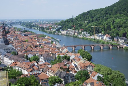 View over the famous city of Heidelberg (Germany) photo