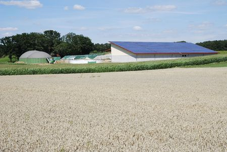 Biogas production and solar energy Stock Photo - 7791570