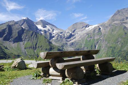 Mountain view in Austria at the Grossglockner Hochalpenstrasse (high alpine road). Stock Photo - 7791586