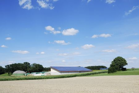 Biogas production and solar energy