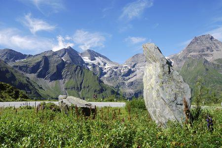 Mountain view in Austria at the Grossglockner Hochalpenstrasse (high alpine road). Stock Photo - 7791651