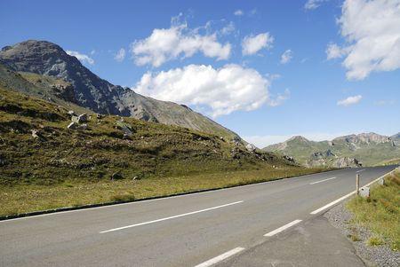 Mountain view in Austria at the Grossglockner Hochalpenstrasse (high alpine road). Stock Photo - 8030898