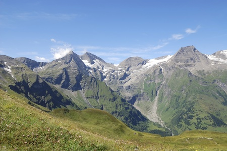 Mountain view in Austria at the Grossglockner Hochalpenstrasse (high alpine road). Stock Photo - 8259778