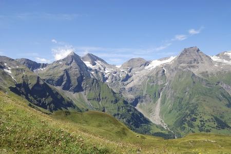 Mountain view in Austria at the Grossglockner Hochalpenstrasse (high alpine road). Stock Photo - 8259778