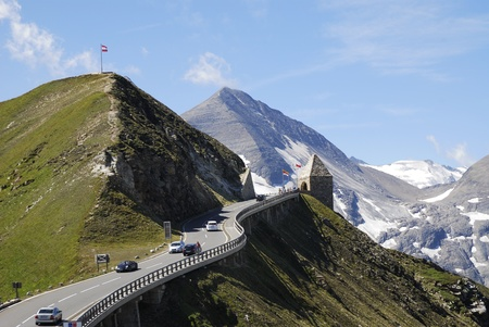 Hochtor (Fuscher Törl) in Austria at the Grossglockner Hochalpenstrasse (high alpine road). photo
