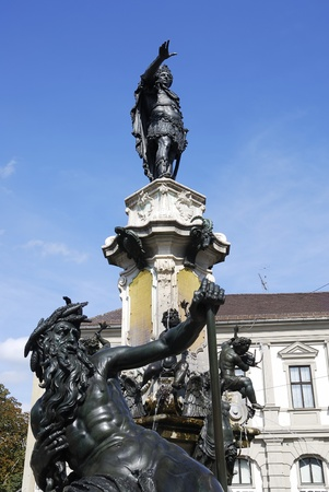 Augustus fountain in Augsburg (Bavaria, Germany) Stock Photo - 8381149
