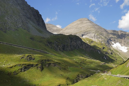 Mountain view in Austria at the Grossglockner Hochalpenstrasse (high alpine road). Stock Photo - 8530191